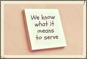 what it means to serve
